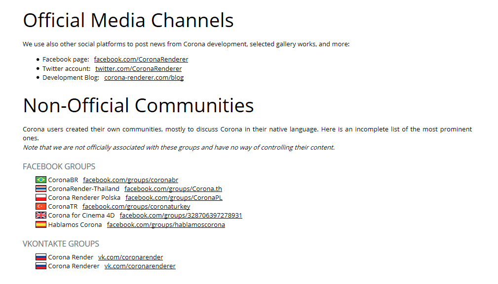 oficial media channels